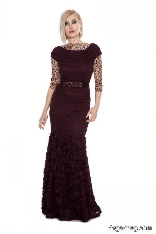 مدل لباس شب رنگ تیره