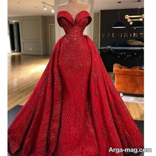 مدل لباس شب پوشیده و قرمز