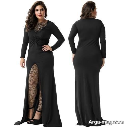 مدل لباس شب برای خانم های چاق