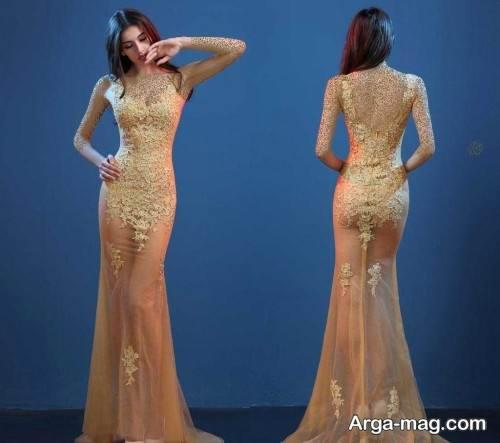 مدل لباس شب دخترانه رنگ روشن