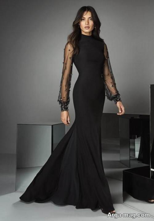 مدل لباس شب زنانه آستین دار