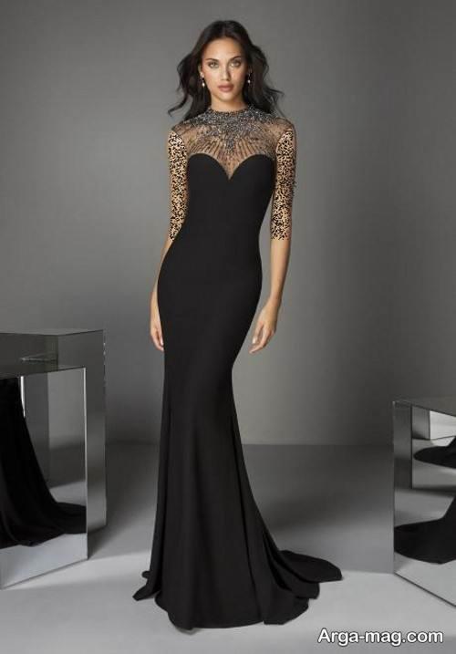 مدل لباس شب مشکی و خاص