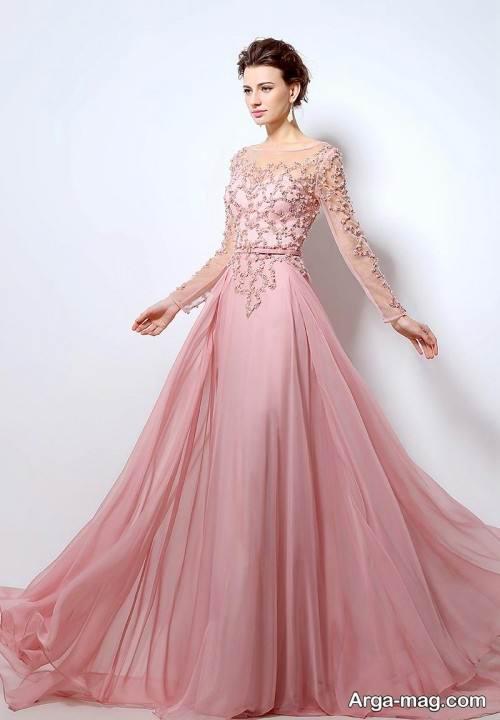لباس شب صورتی