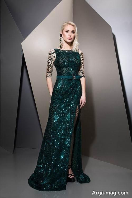 مدل لباس شب زنانه سبز