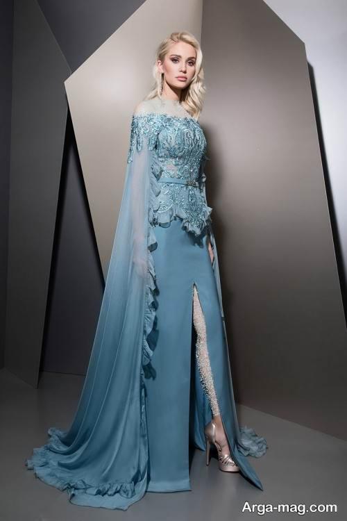 لباس شب آبی