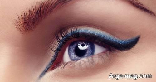خط چشم آبی دخترانه