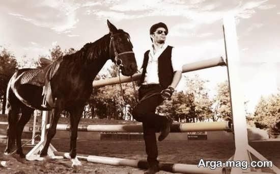 ژست عکس با اسب جدید