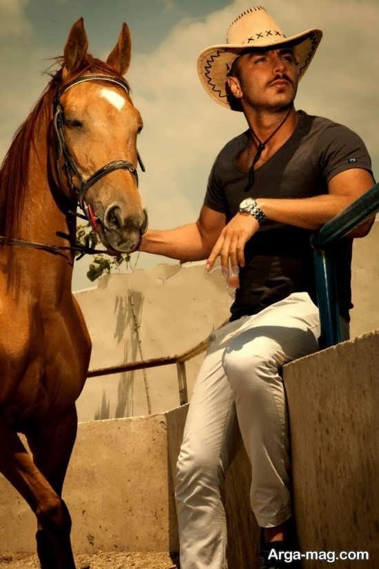 ایده ای ناب و جذاب پسرانه با اسب