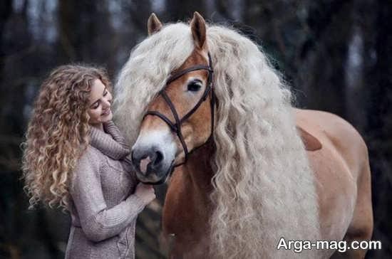 مجموع جدید ژست عکس با اسب