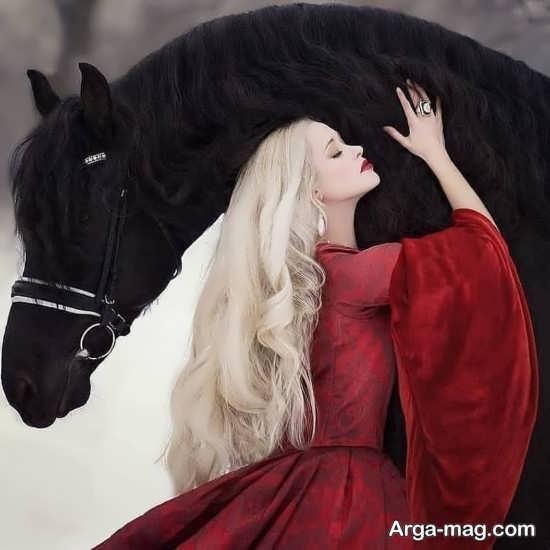 ایده فوق العاده عکس پروفایل با اسب