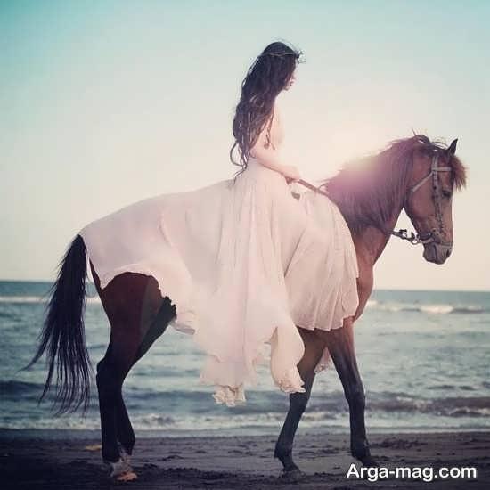 نمونه هایی شیک و فانتزی از فیگور عکس با اسب