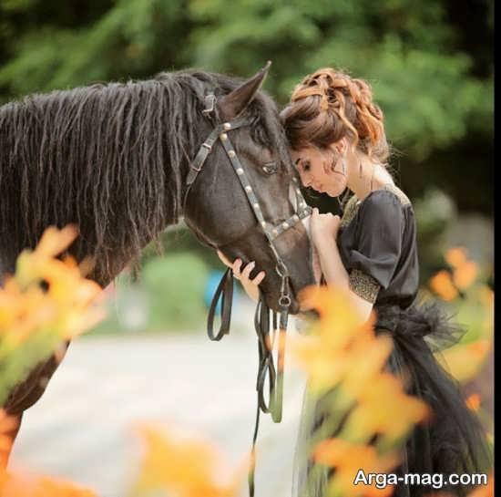 مجموعه زیبا ژست عکس با اسب