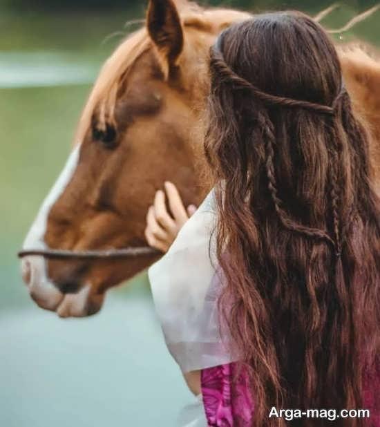 مجموعه ژست عکس با اسب