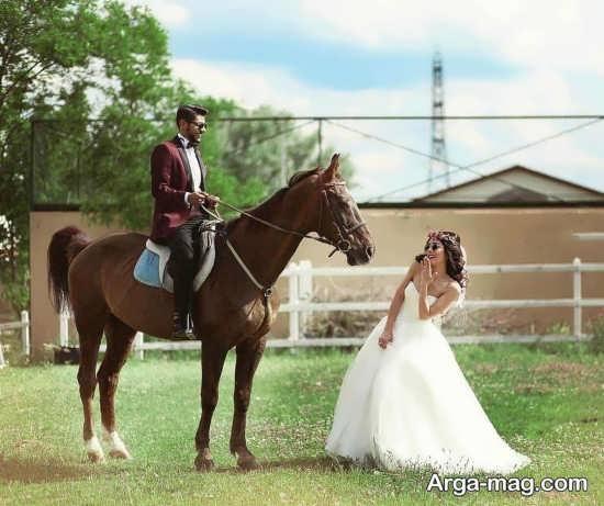 ژست عکس زیبا برای عروس و داماد