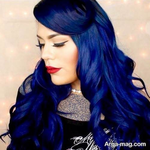 رنگ موی شیک آبی