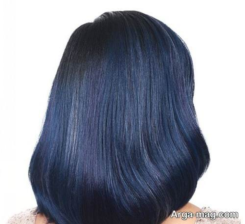 رنگ موی آبی تیره
