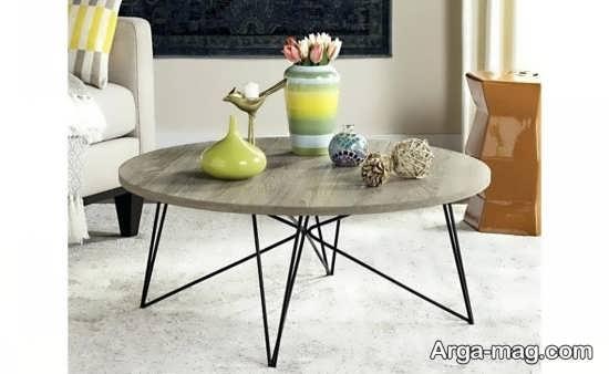 دیزاین میز با ظروف سفال