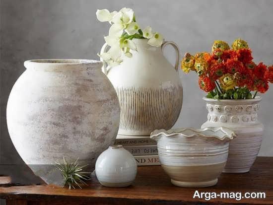 تزیین زیبای منزل با ظروف سفالی