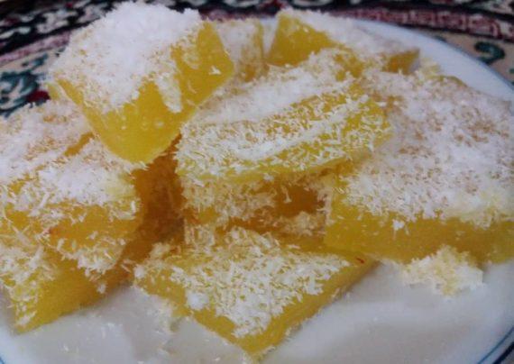 طرز تهیه باسلوق زعفرانی شیرینی و دسر خوشمزه ایرانی