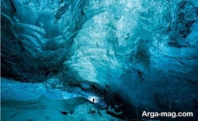 غارهای زیبای یخی در واتنایوکول