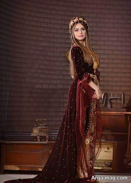 لباس مخمل سنتی
