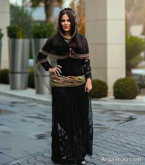 لباس سنتی رنگ تیره