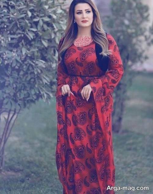 پیراهن طرح دار برای زنان کرد