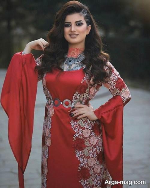 لباس قرمز برای خانم های کرد