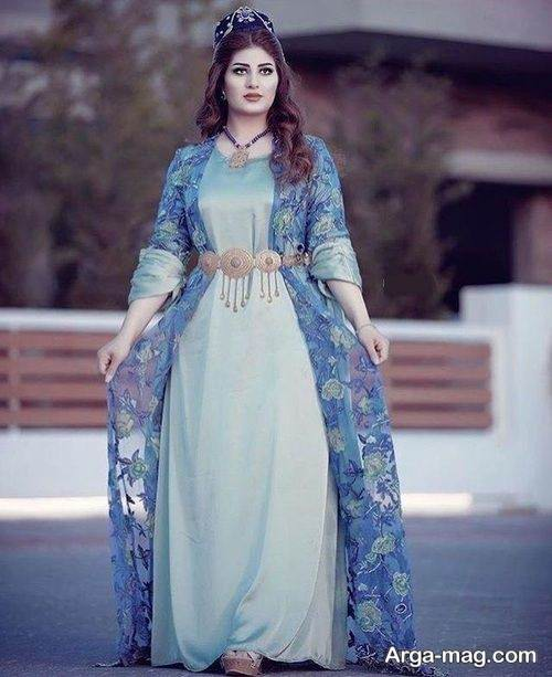 مدل لباس بلند برای دختران کرد