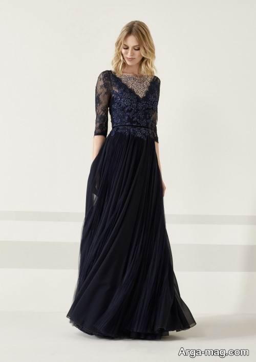 مدل لباس مجلسی سرمه ای و رنگ تیره