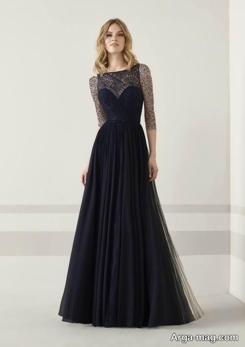 مدل لباس مجلسی رنگ تیره