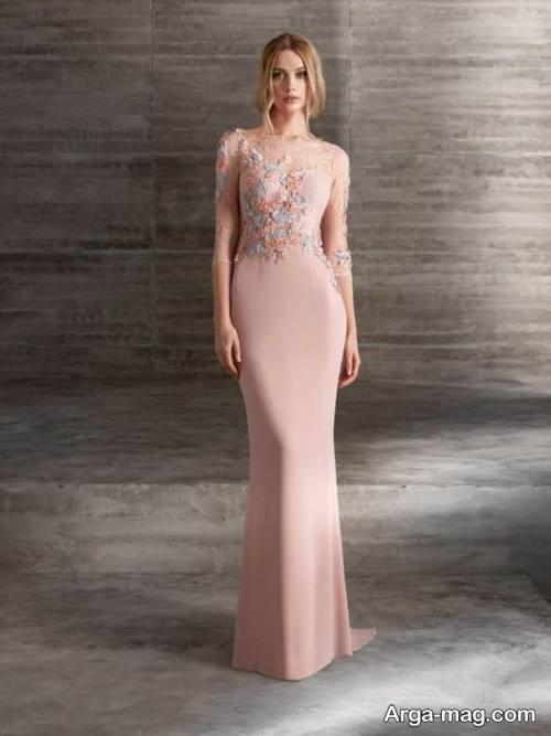 مدل لباس مجلسی بلند رنگ روشن