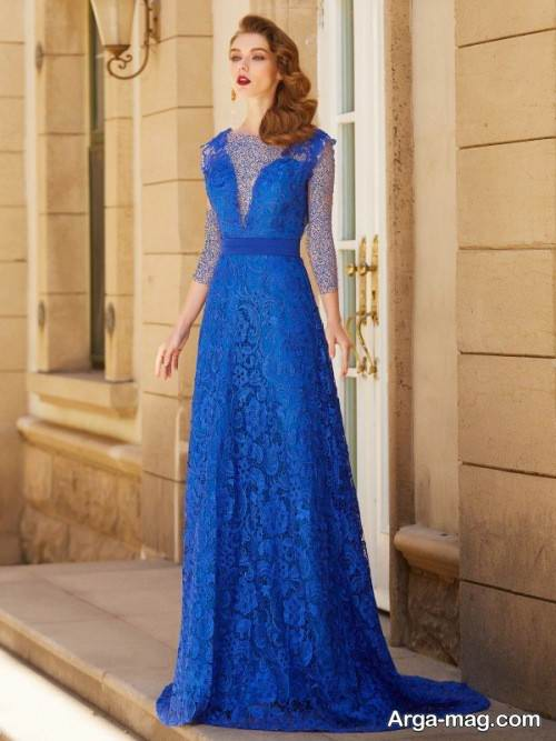 مدل لباس مجلسی گیپور و بلند