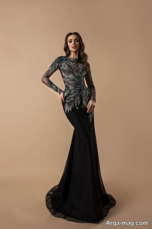 لباس مجلسی بلند آستین دار
