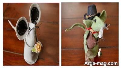 عروسک نمدی موش