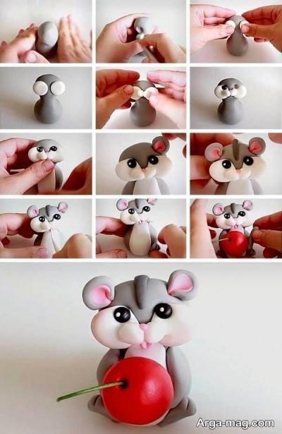 عروسک موش خمیری