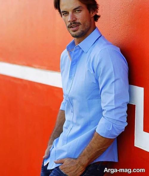 پیراهن زیبا و ساده مردانه
