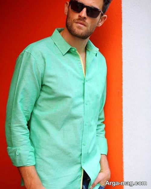 پیراهن سبز مردانه