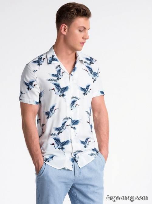 پیراهن طرح دار و زیبا مردانه