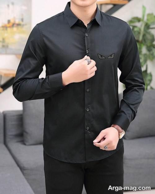 پیراهن مردانه 99 رنگ تیره