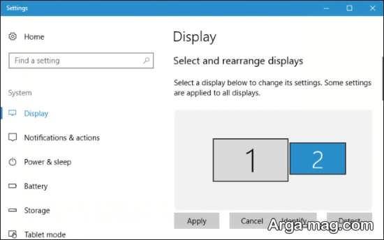 اتصال چند نمایشگر در ویندوز هشت
