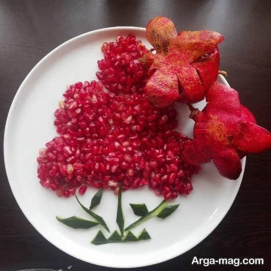 تزیینات میوه انار برای کودکان و دانش آموزان
