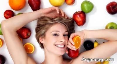 مصرف انواع میوه در رفع خستگی پوست صورت