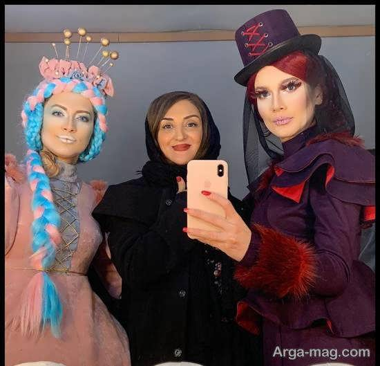 رنگ موی عجیب سمیرا حسینی در نمایش دراکولای سفید