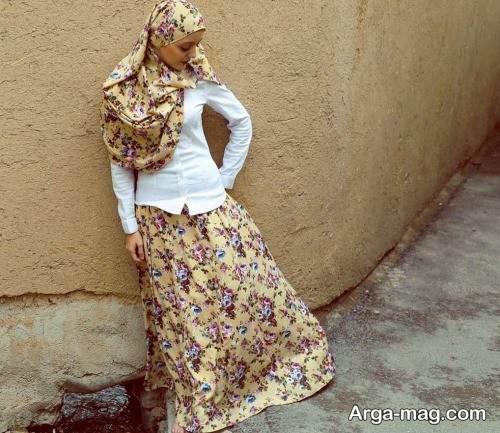 مدل دامن طرح دار زیبا و شیک