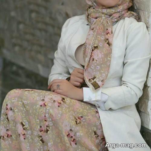 مدل دامن و روسری زیبا و طرح دار