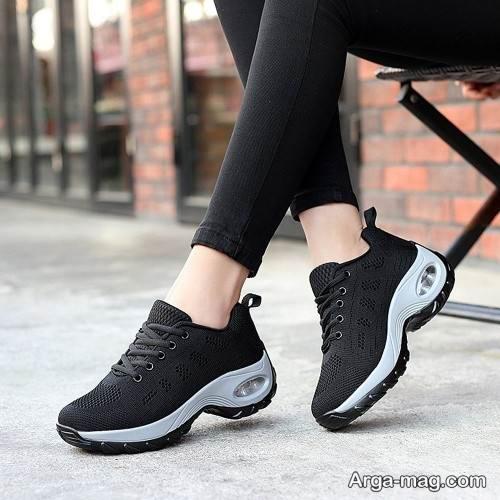 کفش دخترانه مشکی و سفید 99