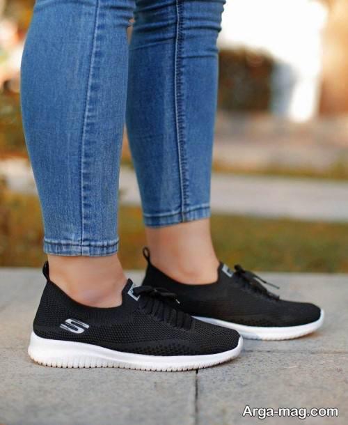 کفش مشکی و سفید دخترانه 99