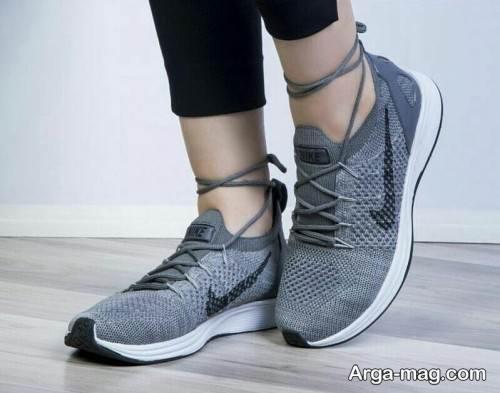 کفش طوسی دخترانه
