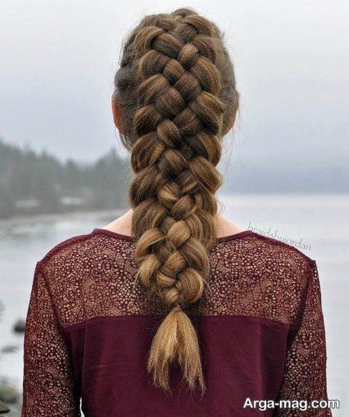 بافت موی زیبا و ساده